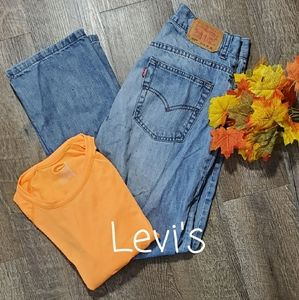 LEVI'S FADED DENIM JEANS, SIZE 20 SLIM 28x30